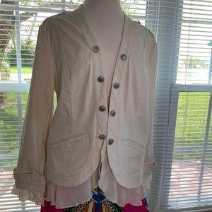 Chico's blazer cream size 2 = 12/14